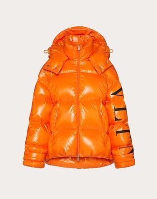 Valentino Vltn Nylon Lakke Padded Jacket Women Orange 100% Poliammide 40