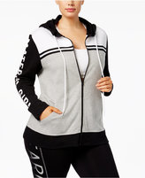 Material Girl Active Plus Size Logo Hoodie, Only at Macy's