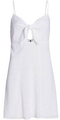 Alice + Olivia Roe Tie-Front Mini Dress