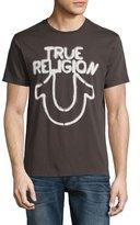 True Religion Stencil Logo T-Shirt, Black