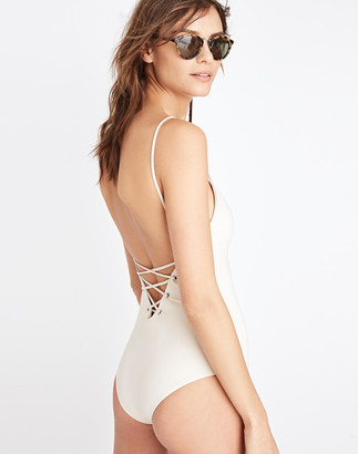 Madewell Tavik Monahan Lace-Up One-Piece Swimsuit