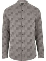 River Island Mens Grey check Only & Sons shirt