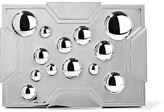 Lee Savage Space Bubbles Gunmetal-Tone Box Clutch