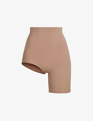 SKIMS Ladies Brown Solution 1 Leg Short, Size: L/XL