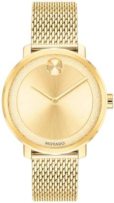 Movado Bold BOLD 34mm Yellow Goldtone Ion-Plated Stainless Steel Watch