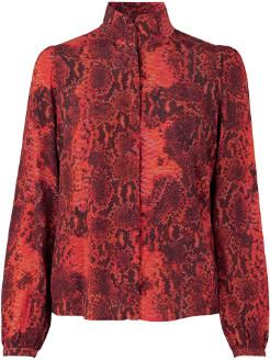 Monroe Notes Du Nord - Orange Viscose Scarlet Snake Shirt - 38 | viscose | orange - Orange/Orange