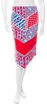 Kenzo Abstract Print Asymmetrical Skirt w/ Tags