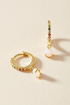 Anthropologie Rainbow Huggie Hoop Earrings By in Assorted