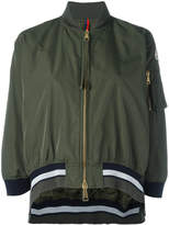 Moncler cropped striped trim jacket
