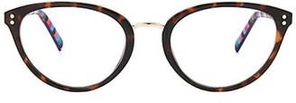Kate Spade Emilia 52MM Blue Block Cat Eye Glasses