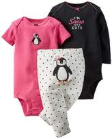 Carter's Baby Girls' 3-Piece Turn-Me-Around Pant Set - Penguin Dot