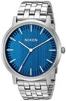 Nixon Porter Silver/ Modern Men's Watch (40mm. Face/Silver Stainless Steel Band)