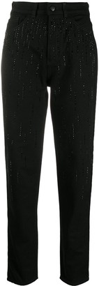 Emporio Armani Crystal Embellished Slim-Fit Jeans