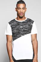 Boohoo Space Spliced T Shirt
