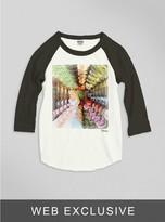 Junk Food Clothing Kids Girls Alice In Wonderland Raglan-su/bw-l
