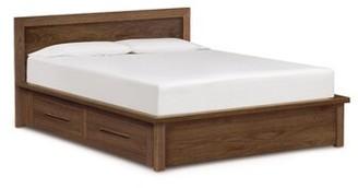 Copeland Furniture Moduluxe Veneer Headboard Storage Platform Bed Copeland Furniture Size: California King, Color: Natural Walnut