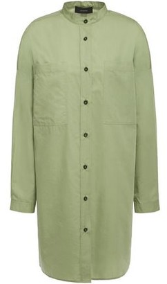 Joseph Cotton And Silk-blend Poplin Shirt