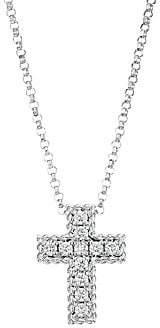 Roberto Coin Women's Venetian Princess 18K White Gold & Diamond Cross Pendant Necklace
