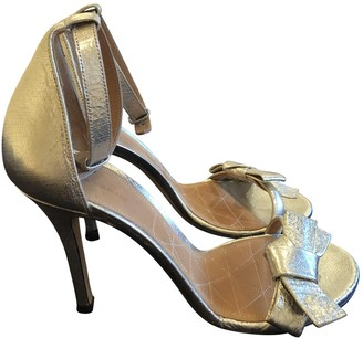 Isabel Marant Gold Patent leather Sandals