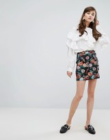 Sister Jane Mini Skirt In Floral Jacquard