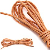 DailyShoes Round Waxed Shoelaces Oxford Flat Dress Canvas Shoe Laces (Great for Marathon Shoes), Gray