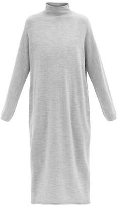 LAUREN MANOOGIAN Roll-neck Alpaca-blend Midi Dress - Light Grey