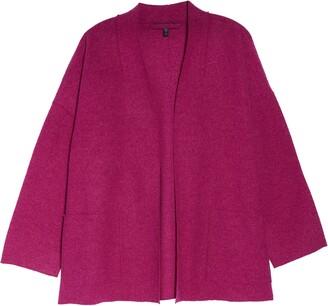 Eileen Fisher High Collar Wool Jacket
