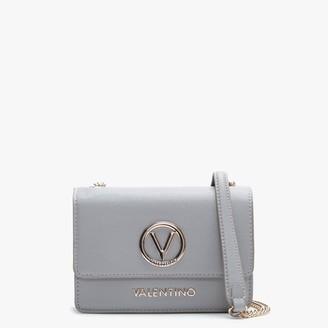 Valentino By Mario Valentino Sax Grey Pebbled Cross-Body Bag