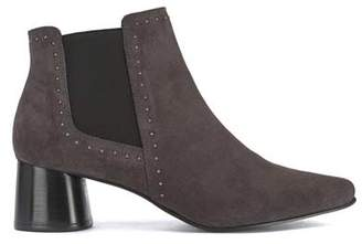 Mint Velvet Maya Grey Suede Studded Boots