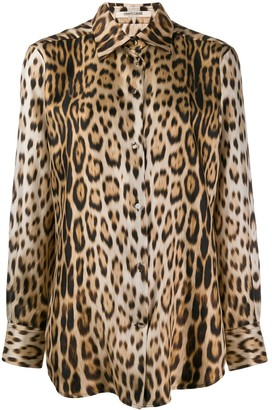 Roberto Cavalli leopard print shirt