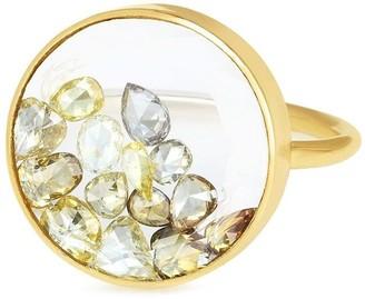 Moritz Glik 18kt Yellow Gold Diamond Shaker Ring