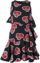 Alexander McQueen ruffled poppy print dress - women - Cotton/Silk - 38