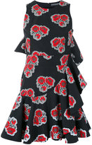 Alexander McQueen ruffled poppy print dress - women - Silk/Cotton - 40