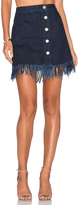 3x1 Asymmetrical Fringe Skirt