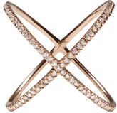 Eva Fehren Rose Gold Diamond X Ring