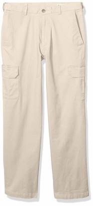 Haggar Men's Stretch Comfort Cargo Expandable Waist Classic Fit Plain Front Pant