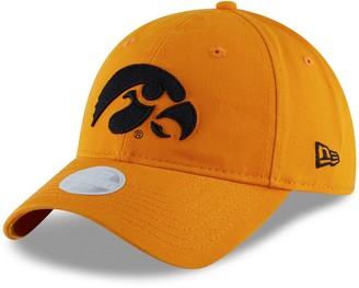 New Era Women's Gold Iowa Hawkeyes Team Core Classic Twill 9TWENTY Adjustable Hat