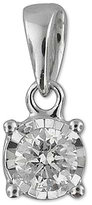 Macy's Diamond Drop Pendant (1/5 ct. t.w.) in 10k White Gold