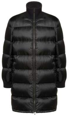 HUGO Regular-fit water-repellent jacket with knitted collar