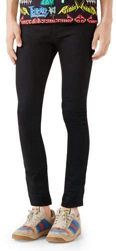 021fa87c Gucci Black Men's Slim Jeans - ShopStyle