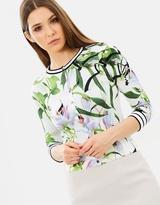 Karen Millen Lily Print Cardigan