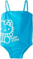 Hello Kitty Little Girls' Turquoise One Piece