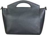 Hadaki Metallic Blue Astrid Leather Clutch