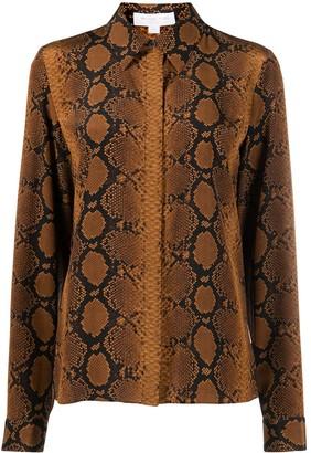 MICHAEL Michael Kors Snakeskin-Print Silk Shirt