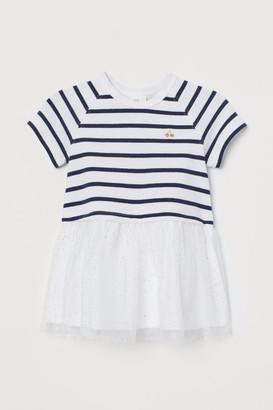 H&M Tulle-skirt Dress - White