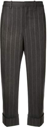 Neil Barrett pinstripe turn-up trousers