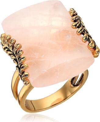 Barse Rose Quartz Statement Ring Size 7