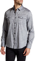 Kenneth Cole New York Long Sleeve Heathered Military Modern Fit Shirt
