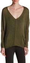 Wooden Ships Wren Pocket V-Neck Sweater