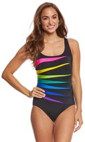 Longitude Color Block Fan One Piece Swimsuit 8165490